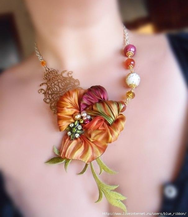 Фантастические украшения в стиле шибори. Это шедевры!