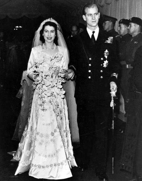 Свадьба Елизаветы с принцем Филиппом в 1947 году