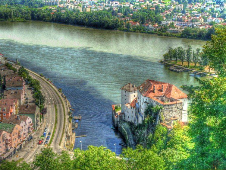 6. Место слияния трех рек – Дуная, Ильца и Инна (Германия)