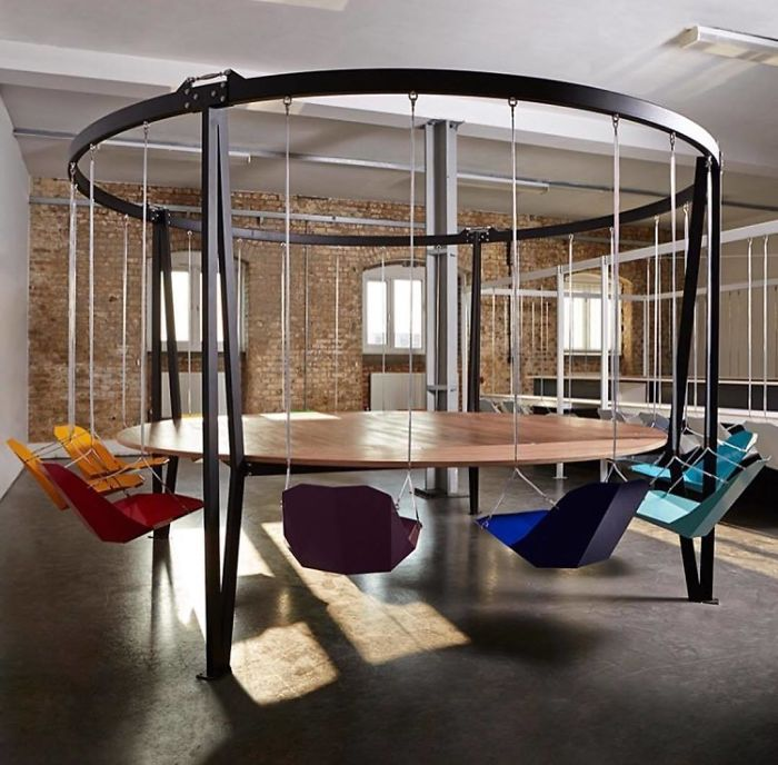 Round Swing Table By Duffy London