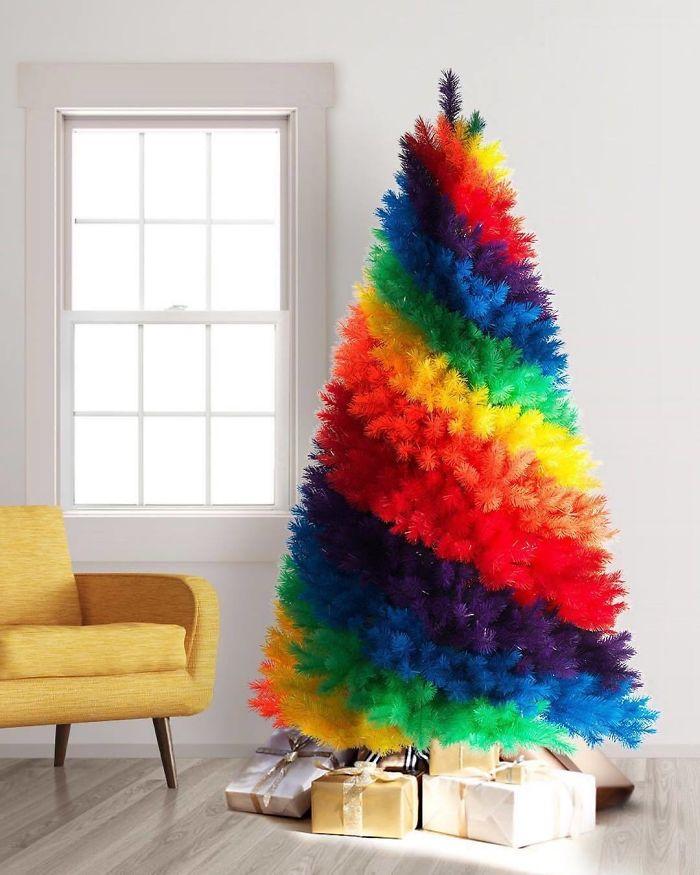 Rainbow Christmas Tree By Treetopia