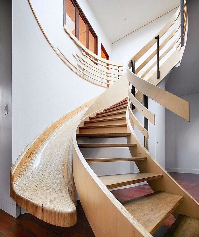 Modern House With Indoor Wood Slide By Archology