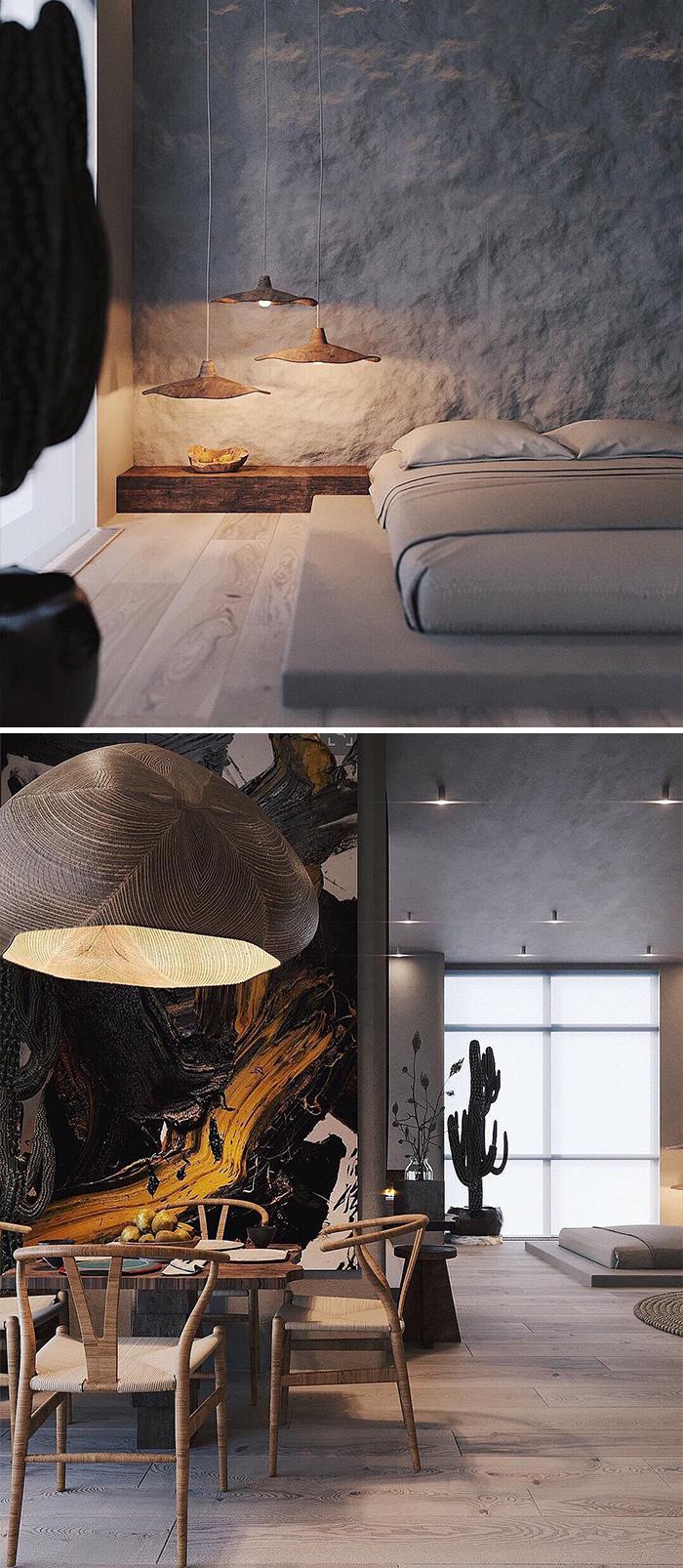 Wabi Sabi Apartment Designed By @makhno_design