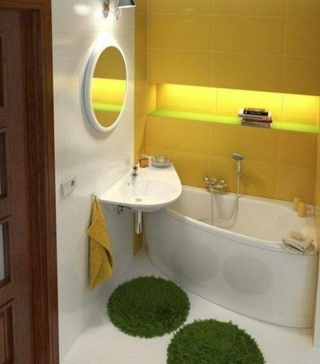 Оригинальные идеи для маленькой ванной комнаты