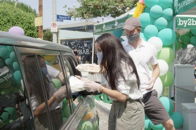 Меган Маркл и принц Гарри на благотворительном мероприятии в Лос-Анджелесе